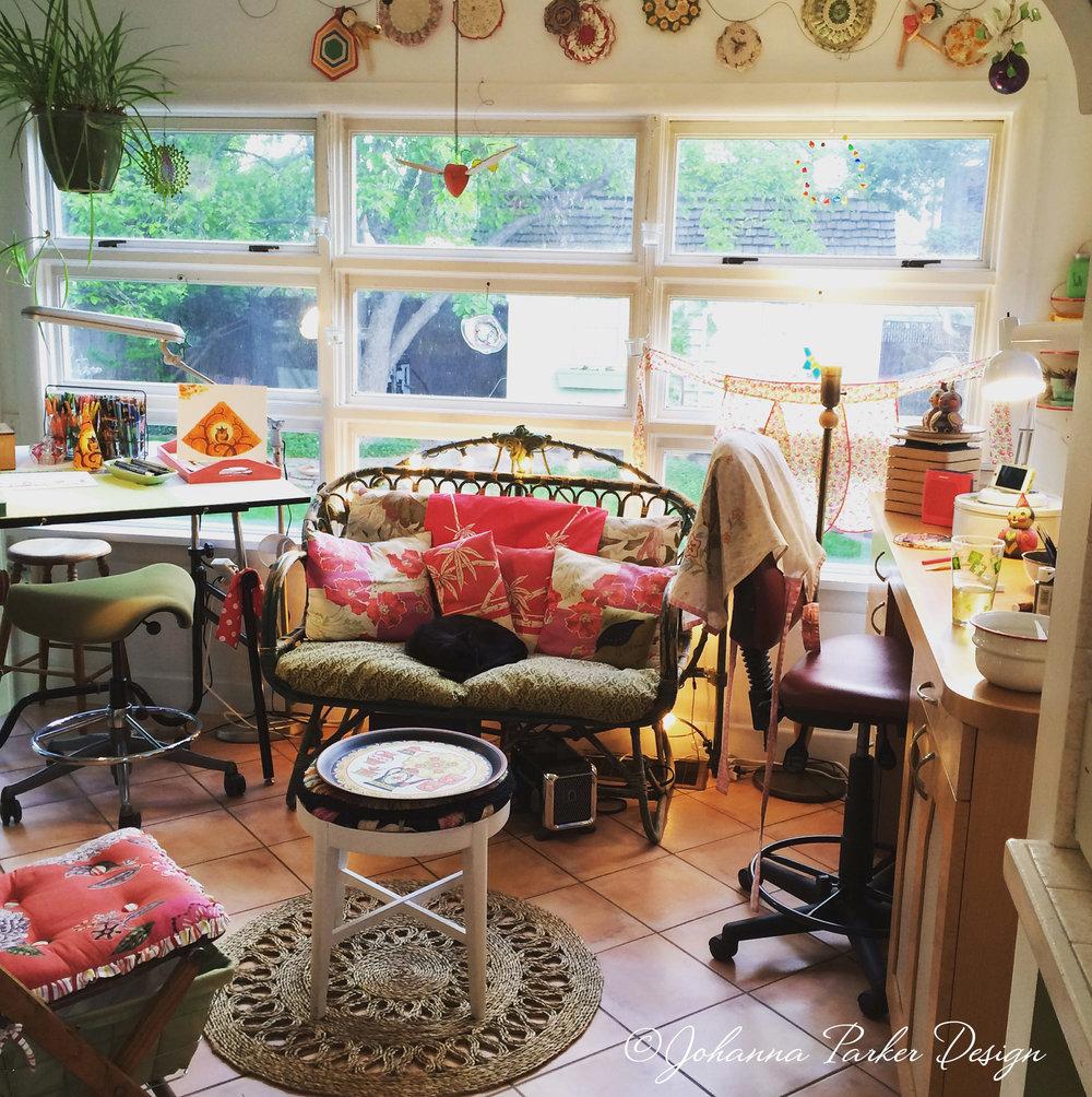 Sunroom artist studio