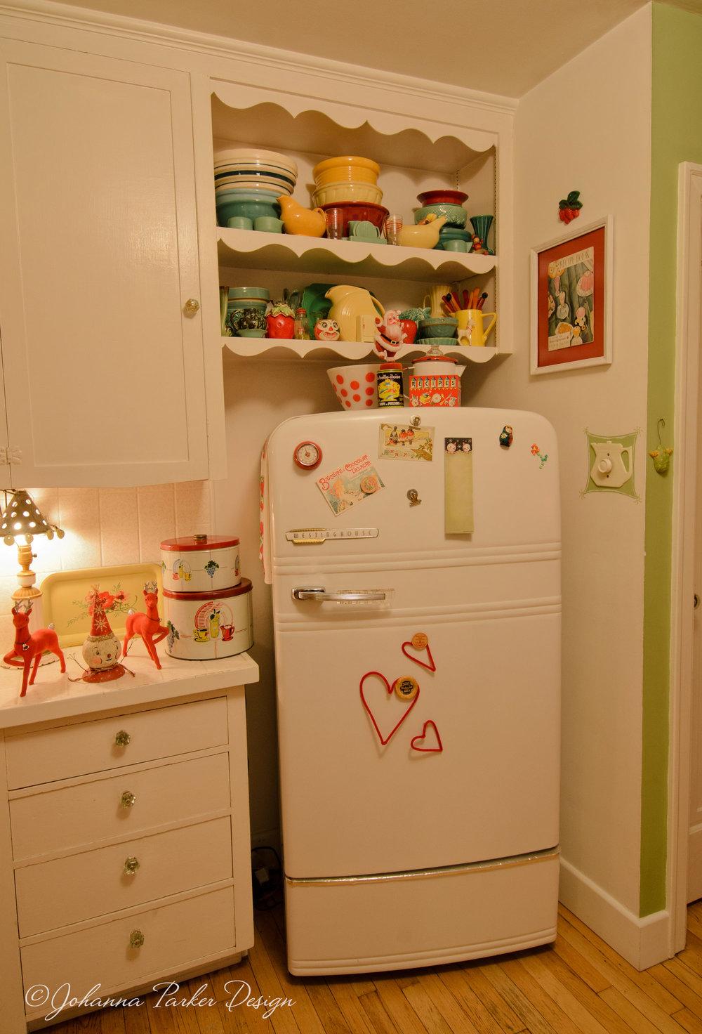 Vintage kitchen fridge