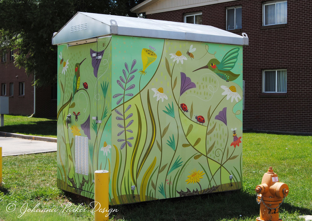 """Ammons Hummers""  - 13th & Ammons RTD utility box wrap - Lakewood, Colorado"