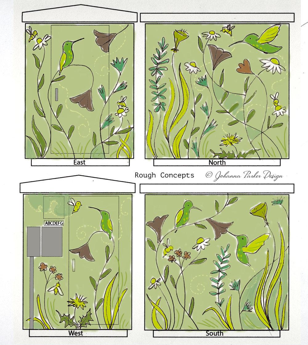 Ammons Hummingbird Sketch RTD