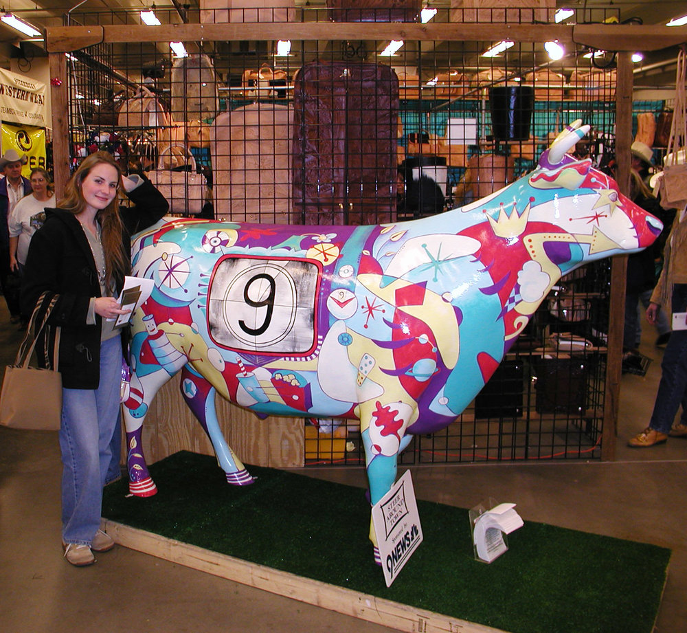 9NEWS Steer Around Town -Pictured at a temporary display at the National Western Stockshow