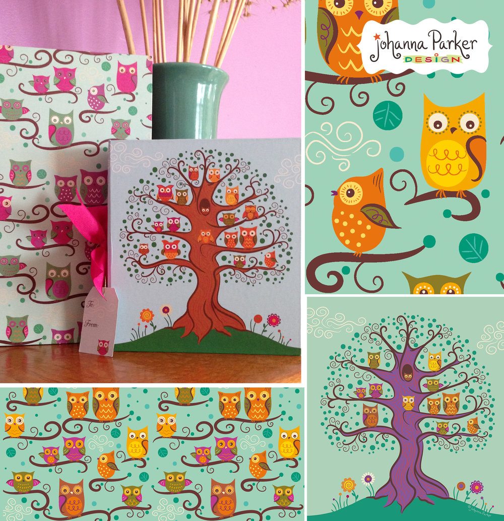 Whimsical owl tree