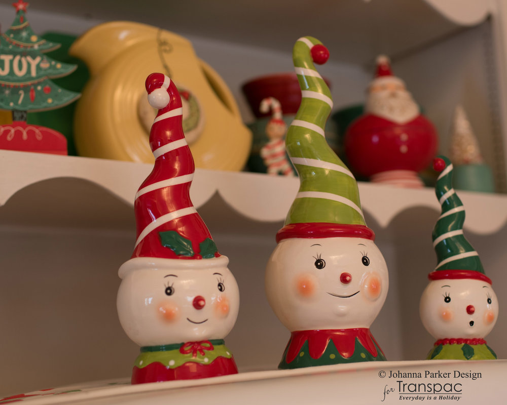 Christmas Spiral Hat Snowmen ~ Transpac Imports, Inc.