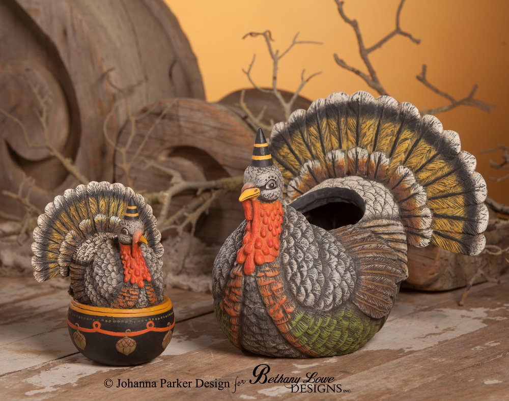 Turkey Candy Containers ~Bethany Lowe Designs, Inc.