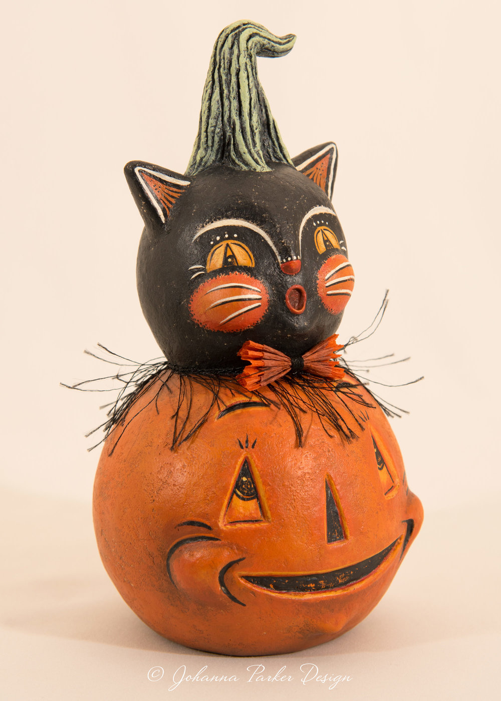 Johanna Parker Pumpkin Black Cat