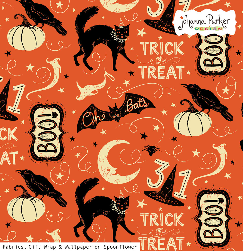 Johanna Parker Vintage Halloween Trick or Treat Boo