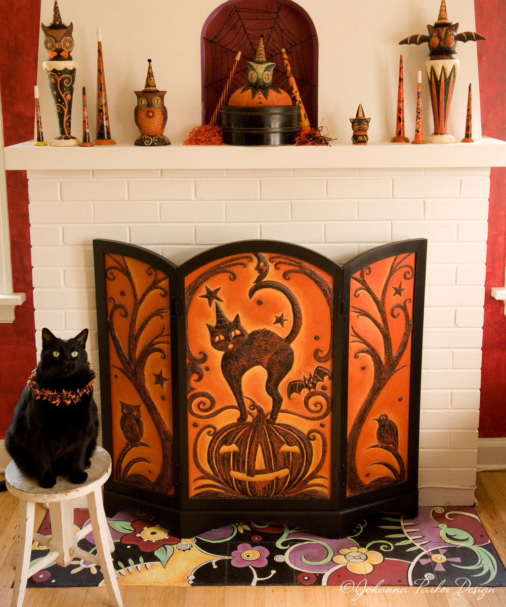 Johanna Parker Design Halloween Fire Screen