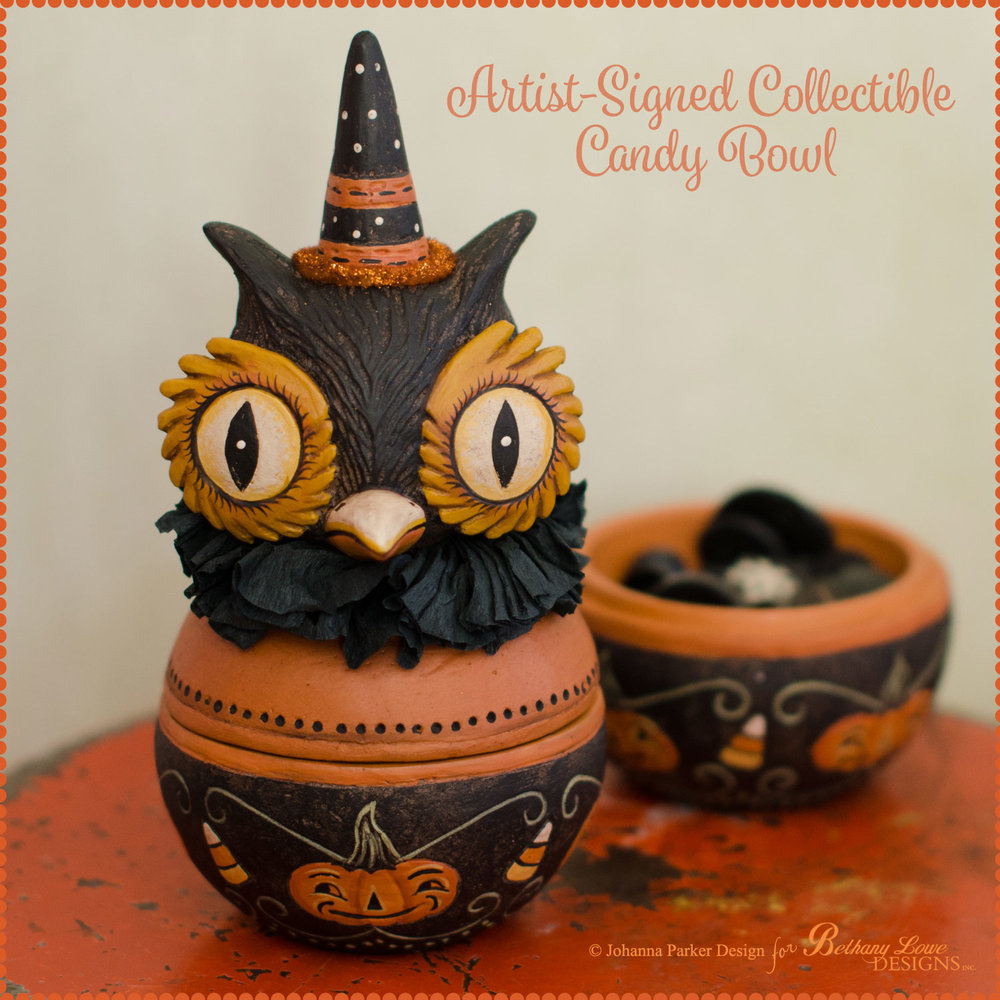 available to order are a handful of halloween candy bowl designs from johannas 2017 2016 bethany lowe designs collections