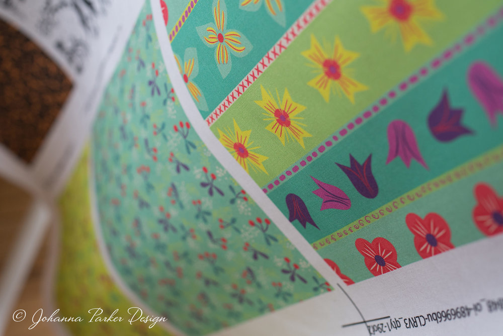 Although Halloween is my love, so are Flowers!  Whimsy Floral Stripes  is simply delightful in print along with the rest of my  Hooty  Tooty Fruity  pairings....