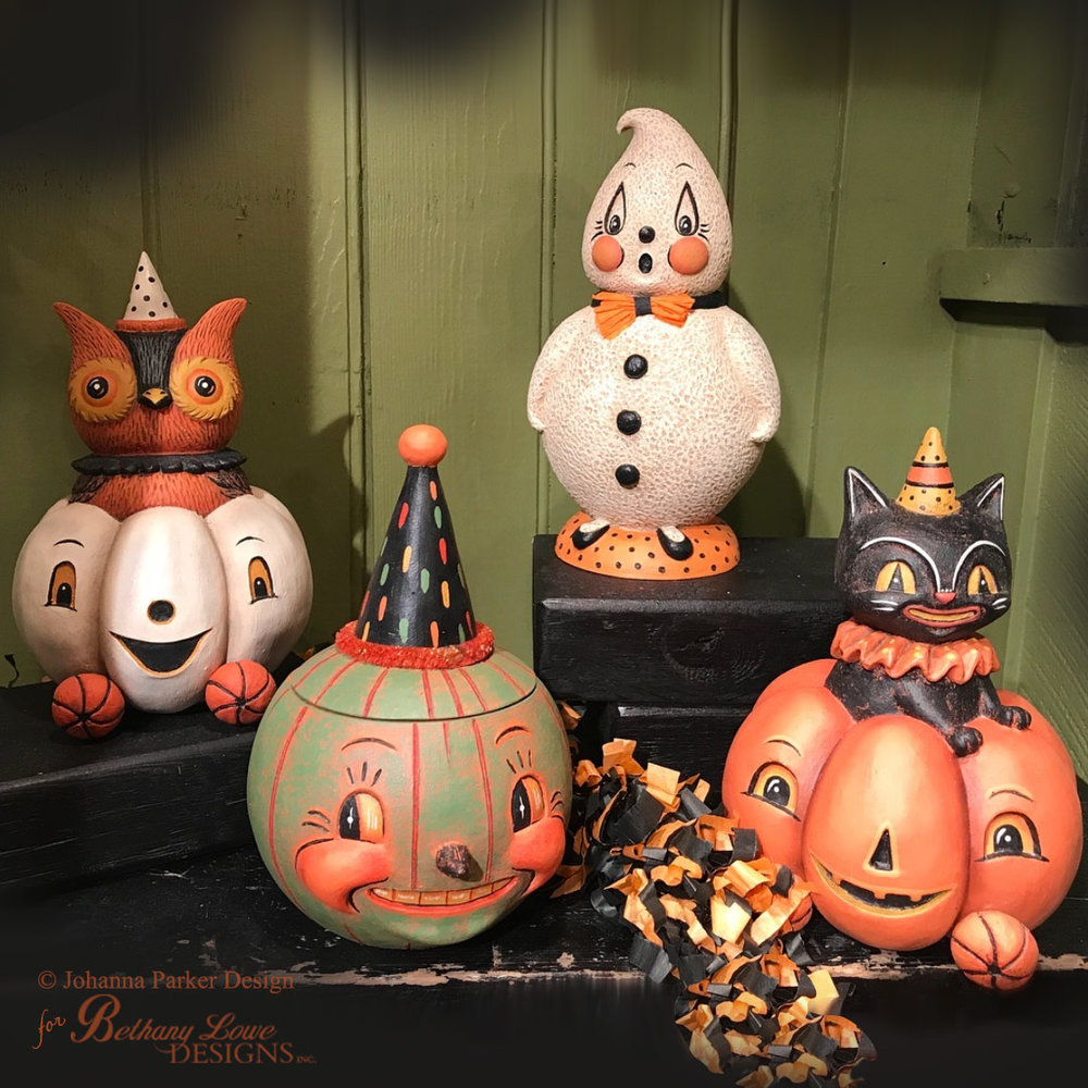 Vintage Style Halloween Decorations ~ Bethany Lowe Designs, Inc.