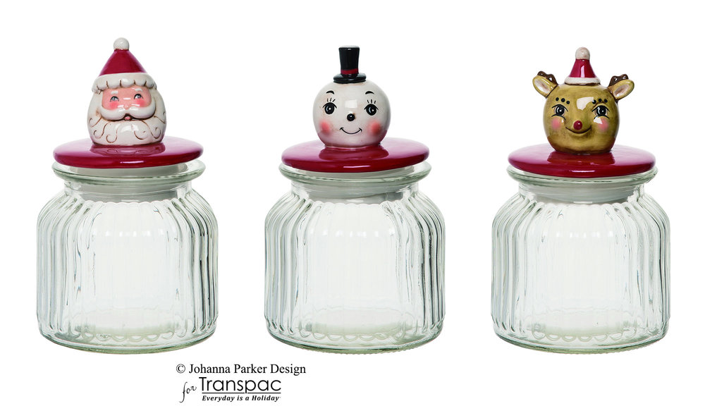 Christmas Candy Jars ~ Transpac Imports, Inc.
