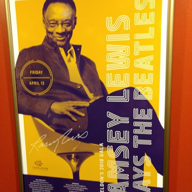 Checking out #ramseylewis @sheldonstl tonight doing a #beatles tribute. Look who we spotted on the poster next to him!
