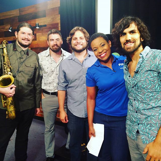 We had a blast on @fox2now this morning with Kim Hudson promoting our new album. It is now available today digitally!  @consciouskeys @thefunkydoctor @mikemur314 @tmetoyou @kimhudsontv