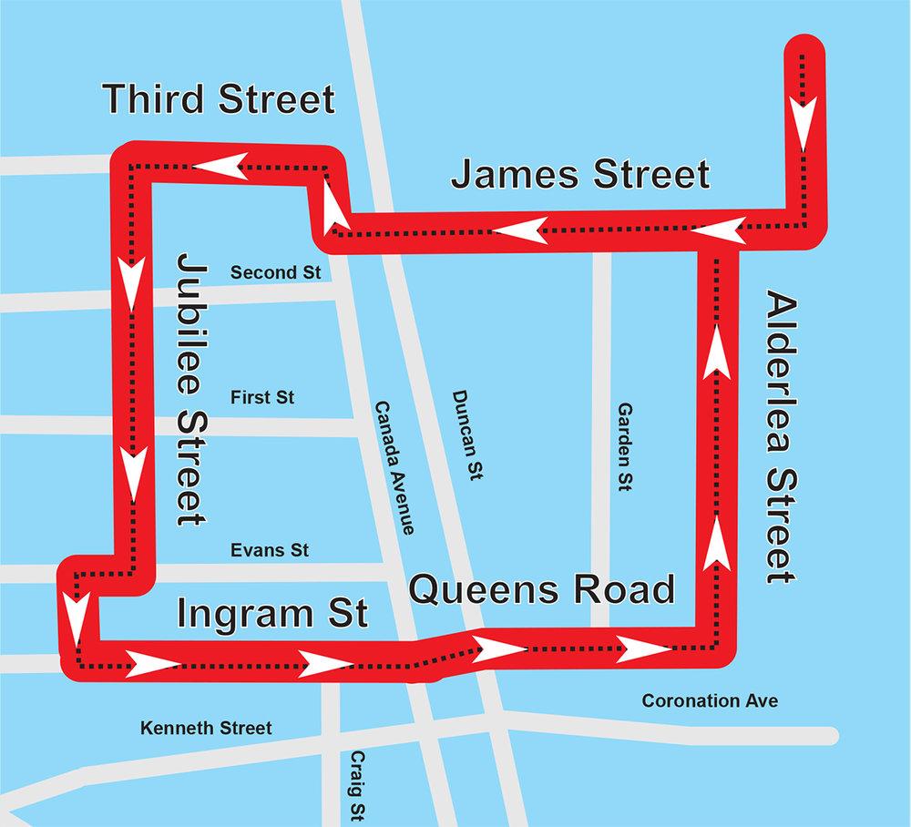 2018 Panago Grande Parade Route