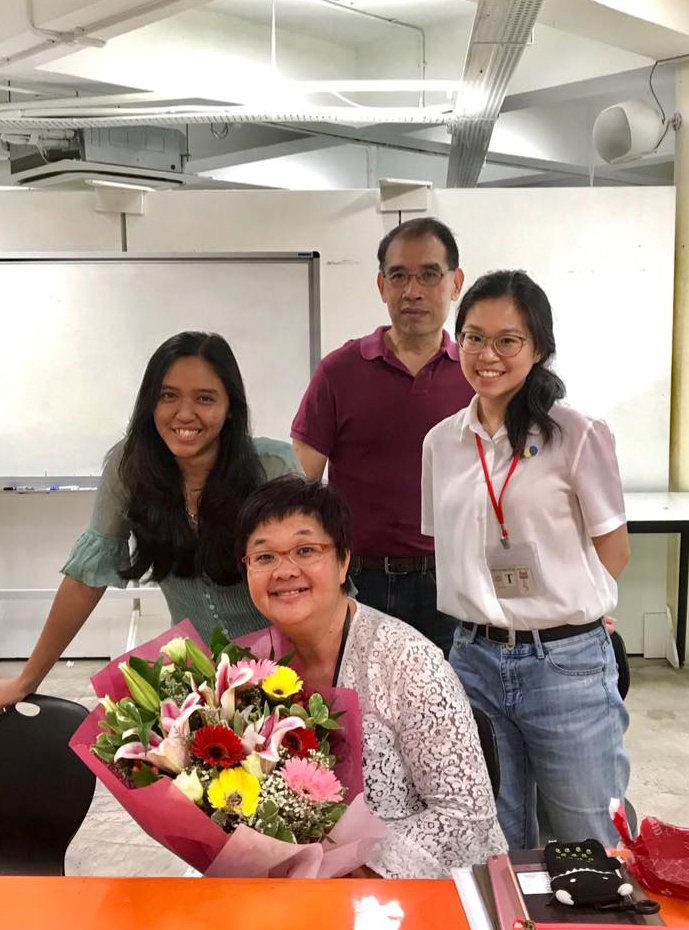 Last day of internship at STAR with Mrs Chew, Dr Tang and Sota alumnus Phoebe Chin . Photo courtesy of Dr Kelly Tang.