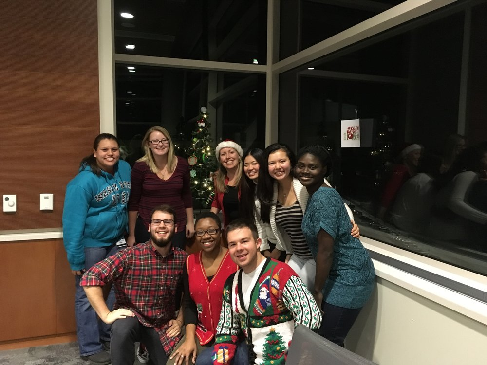 1st lab holiday party!