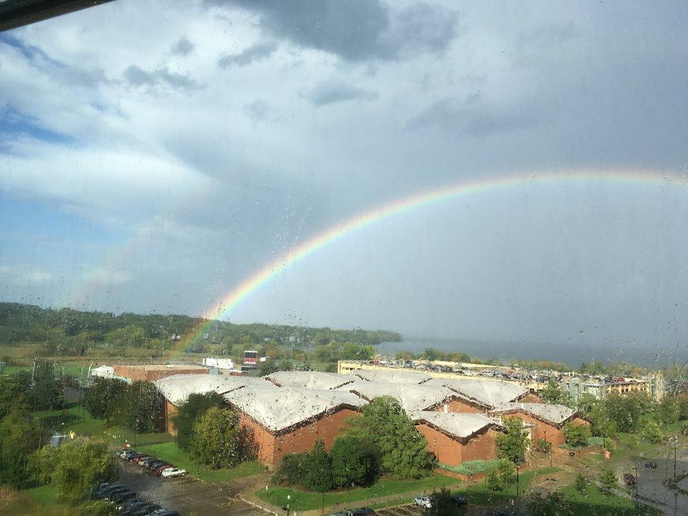 Double rainbow promises good luck!