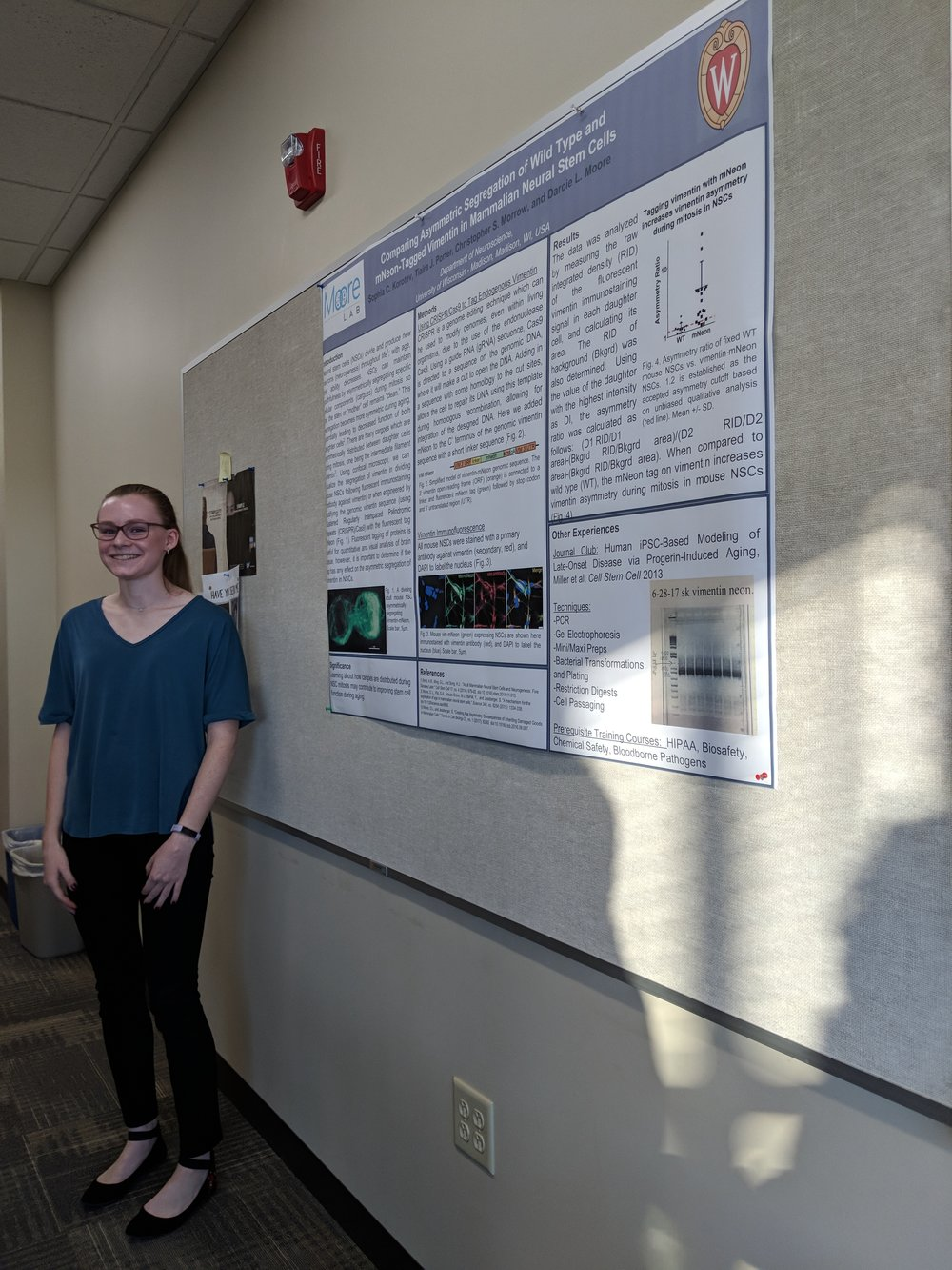Our high school student, Sophia, did a great job presenting the work she did in the lab!
