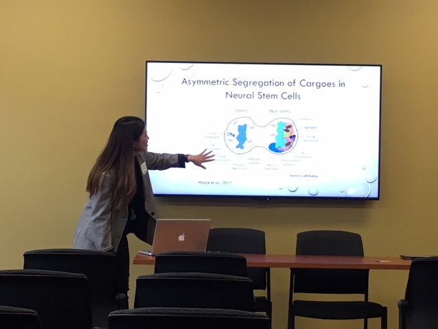 Jieun presents her work of her Sophomore Fellowship at the URS