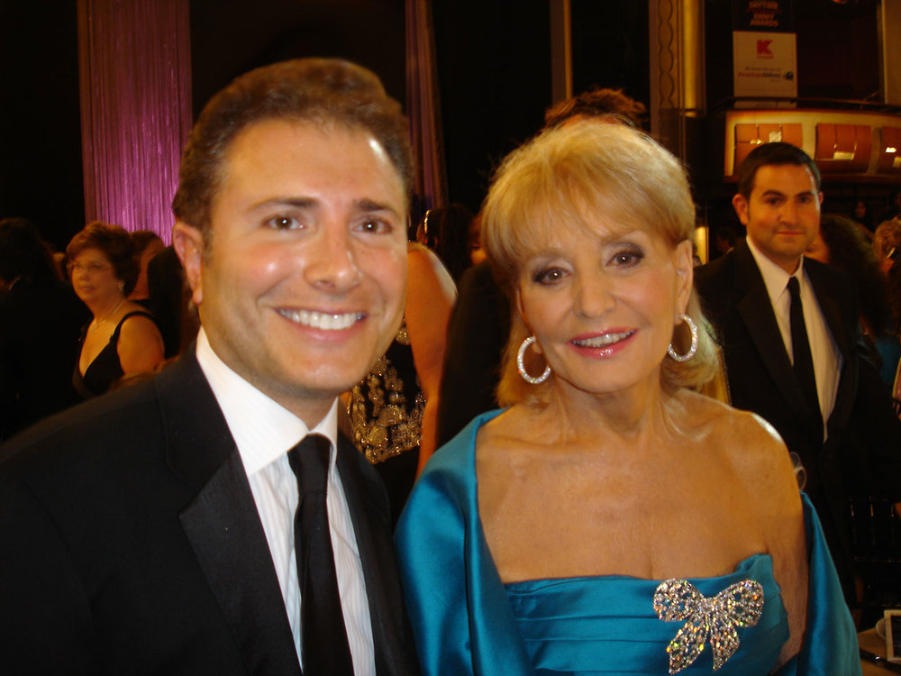 With Barbara Walters