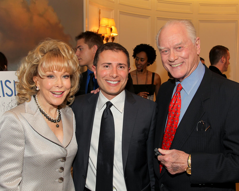 With Barbara Eden and Larry Hagman