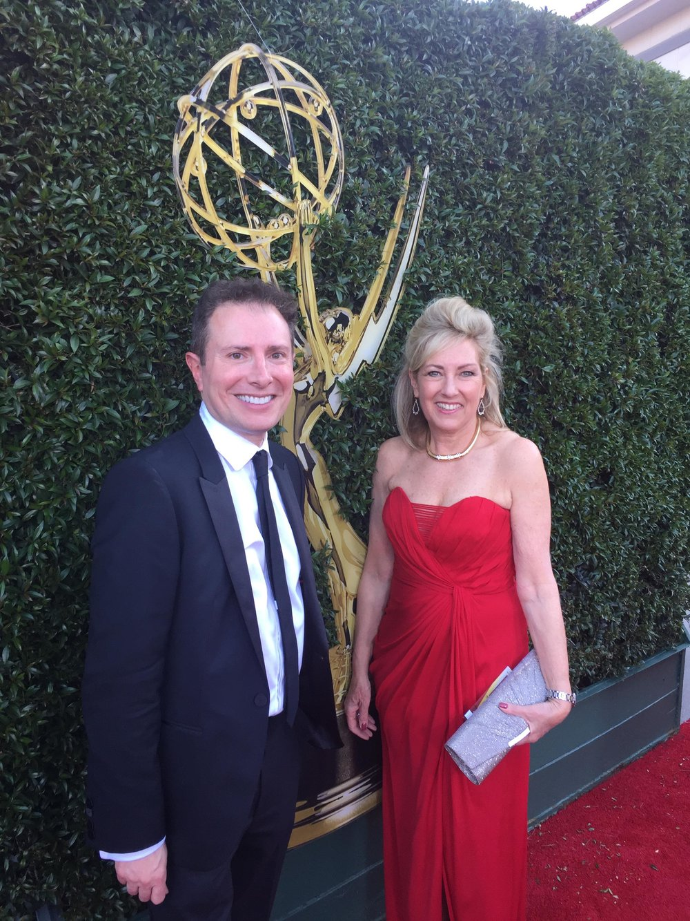 With Amy Freisleben on the Red Carpet