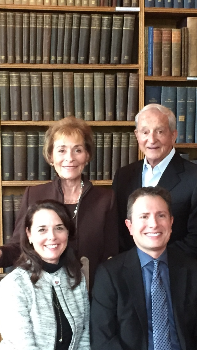 Judge Judy and Judge Jerry Sheindlin at the Oxford Union