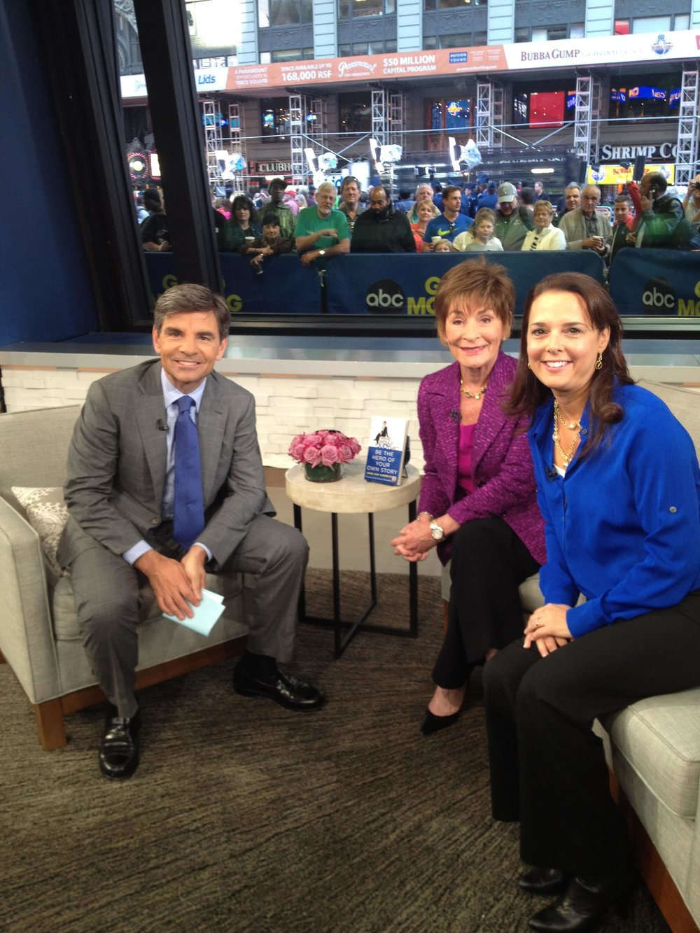 Judge Judy and Nicole Sheindlin with George Stephanopoulos