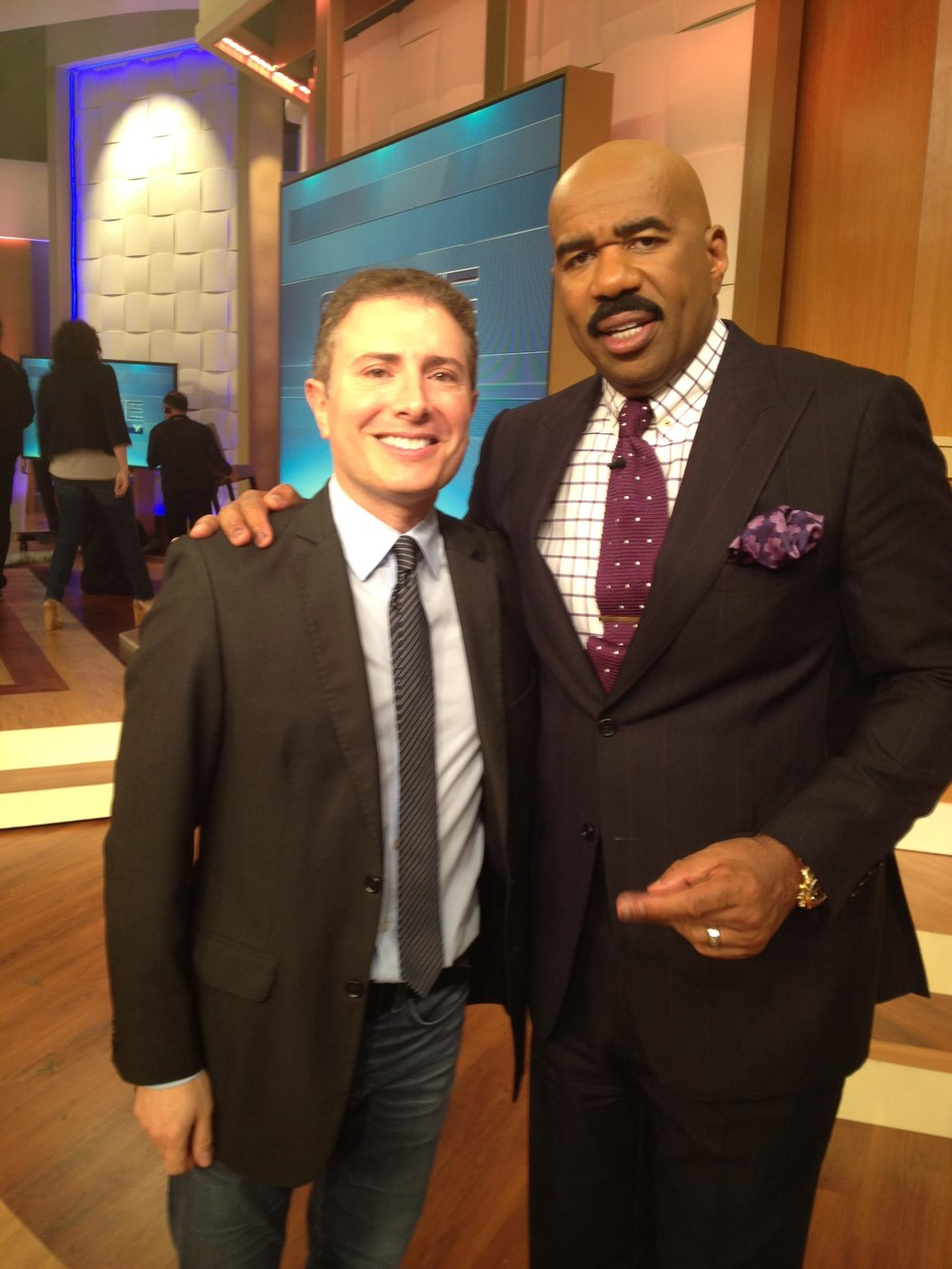 With Steve Harvey