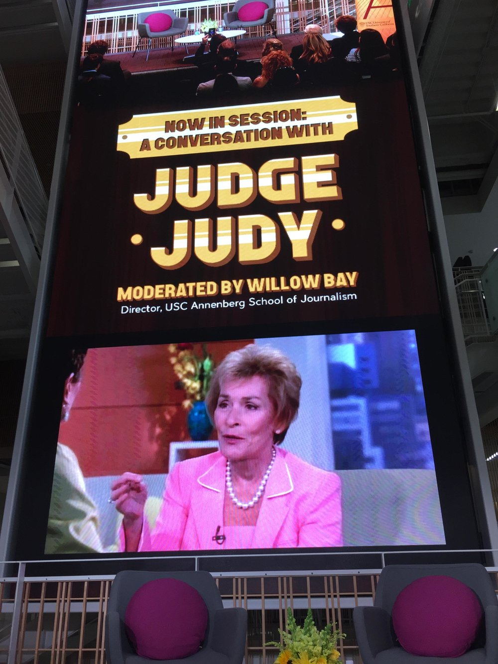 Judge Judy at USC Annenberg School of Journalism