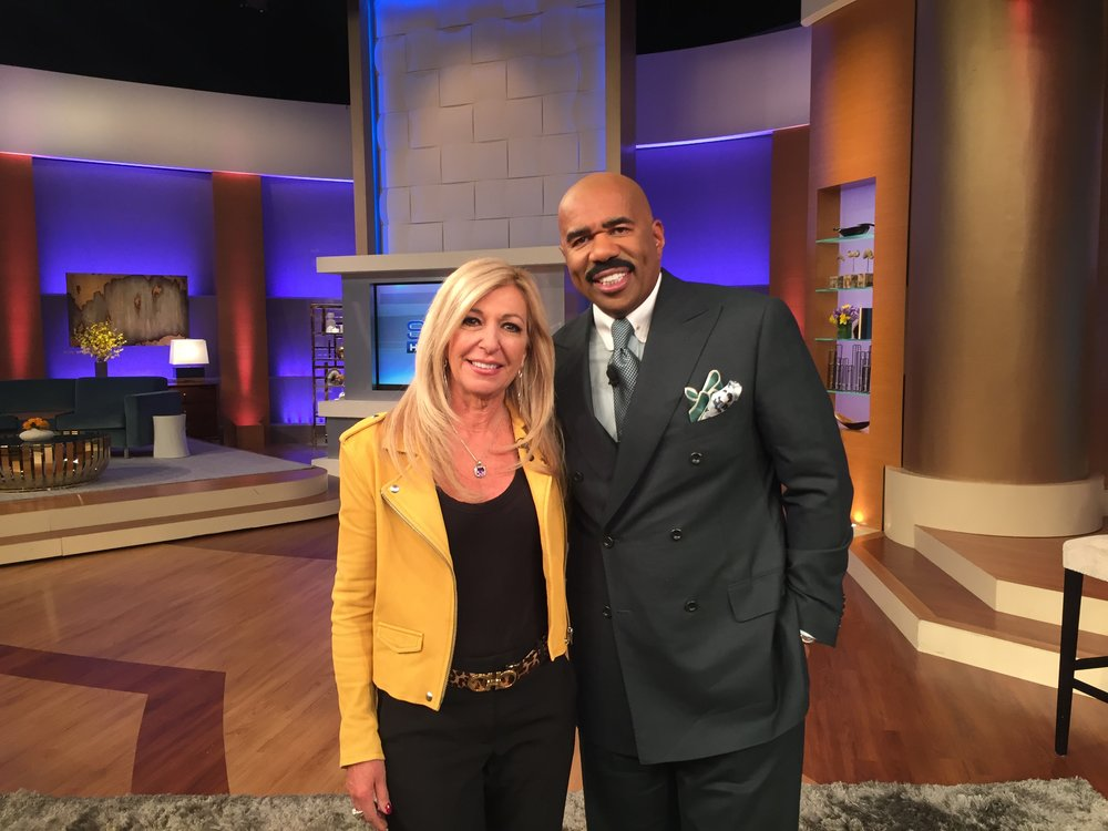 Judge DiMango with Steve Harvey
