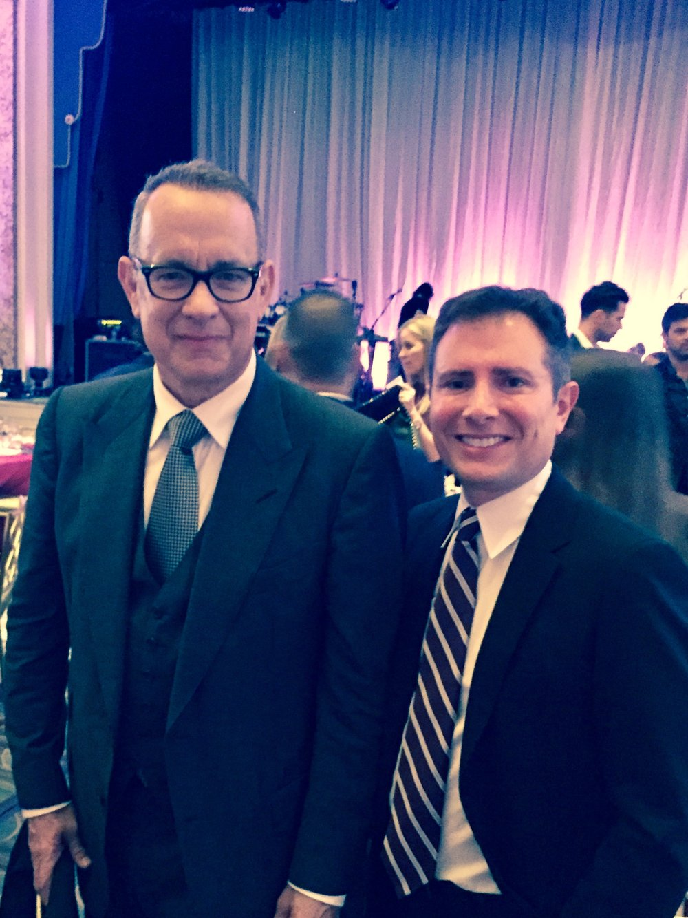 With Tom Hanks