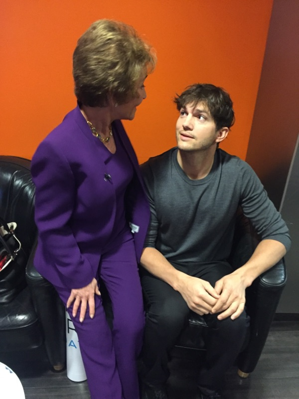 Judge Judy and Ashton Kutcher