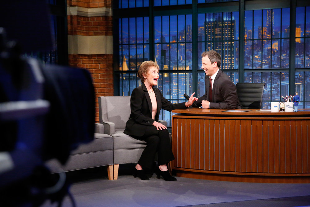 Judge Judy with Seth Meyers