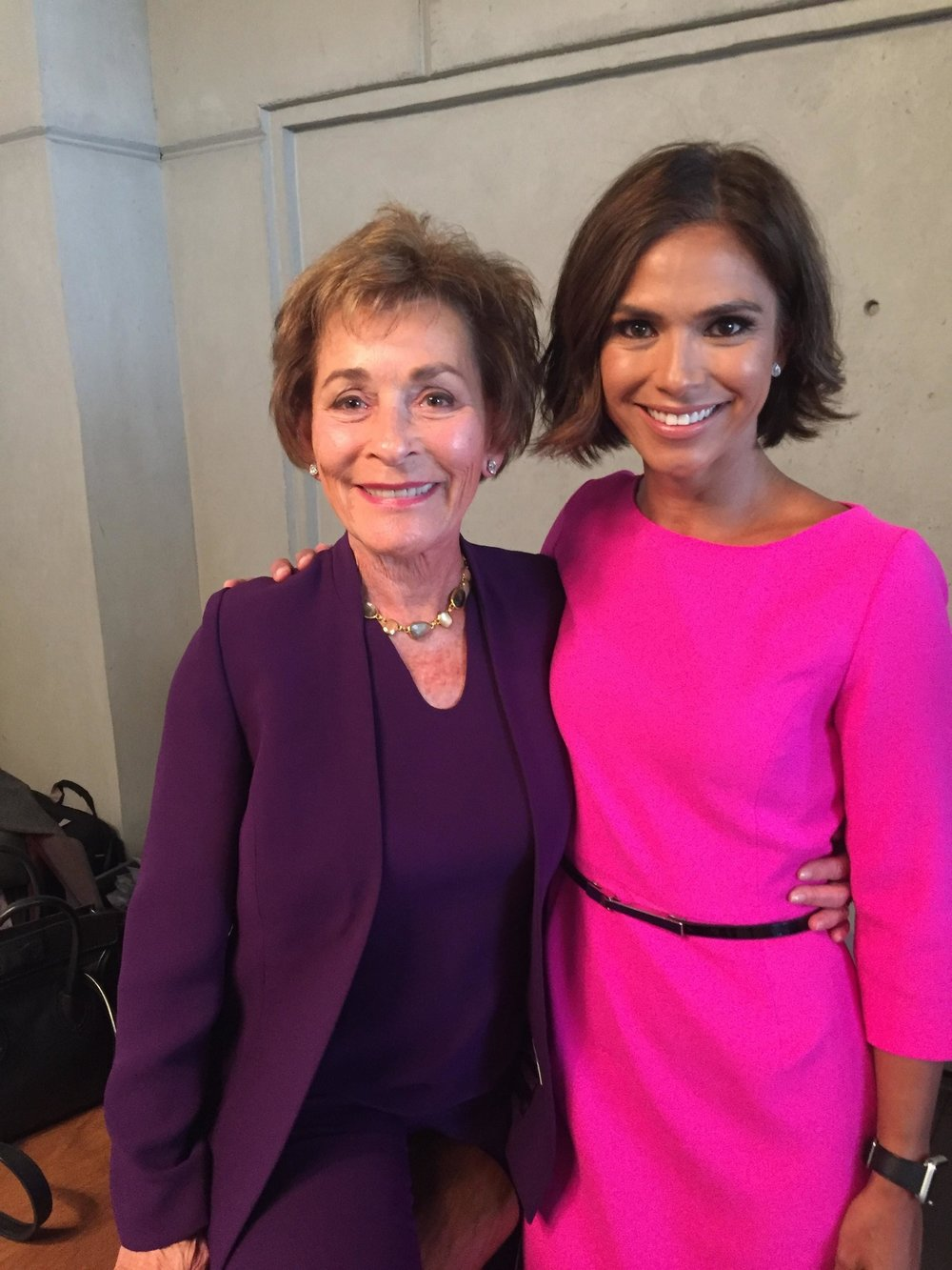 Judge Judy and WCBS-TV anchor Kristine Johnson at the Forbes Women's Summit