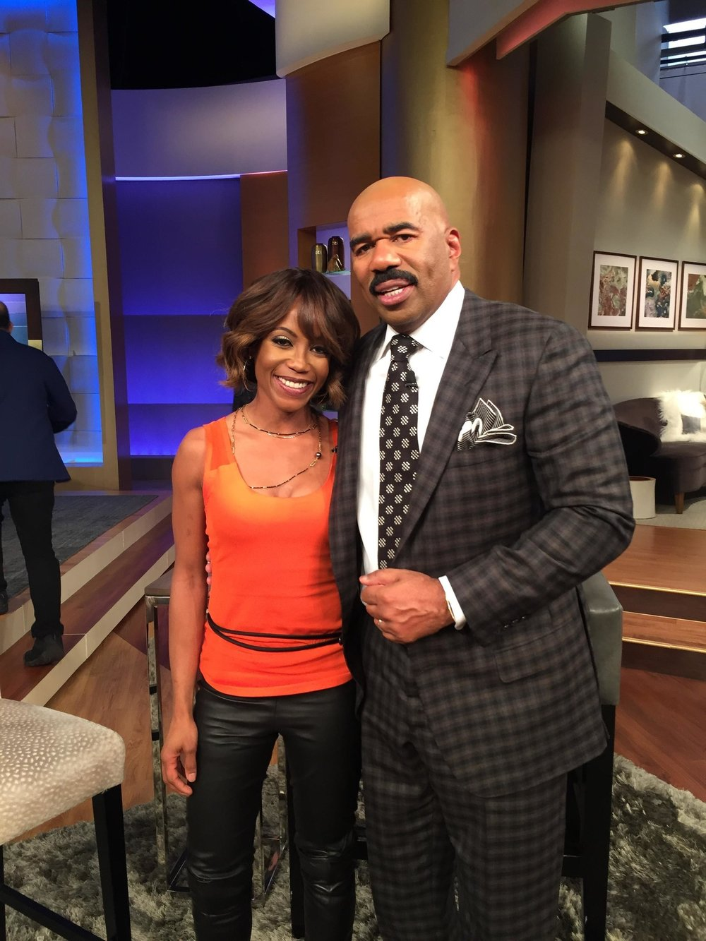 Tanya Acker and Steve Harvey