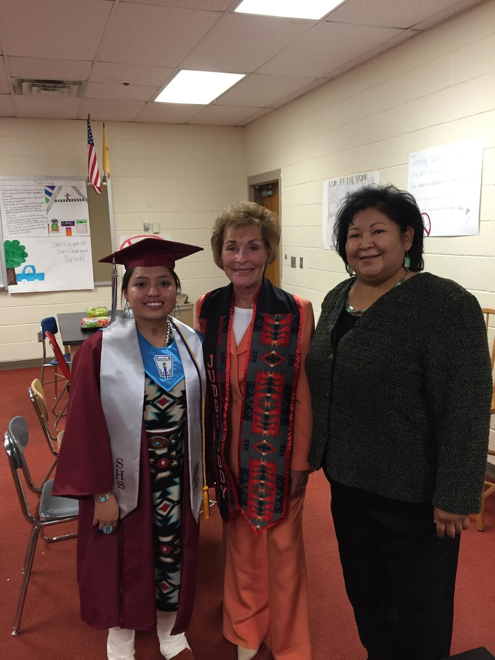 Judge Judy at Shiprock High School for commencement speech
