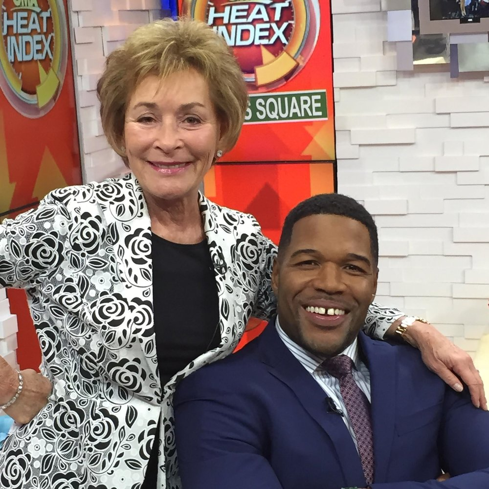 Judge Judy and Michael Strahan