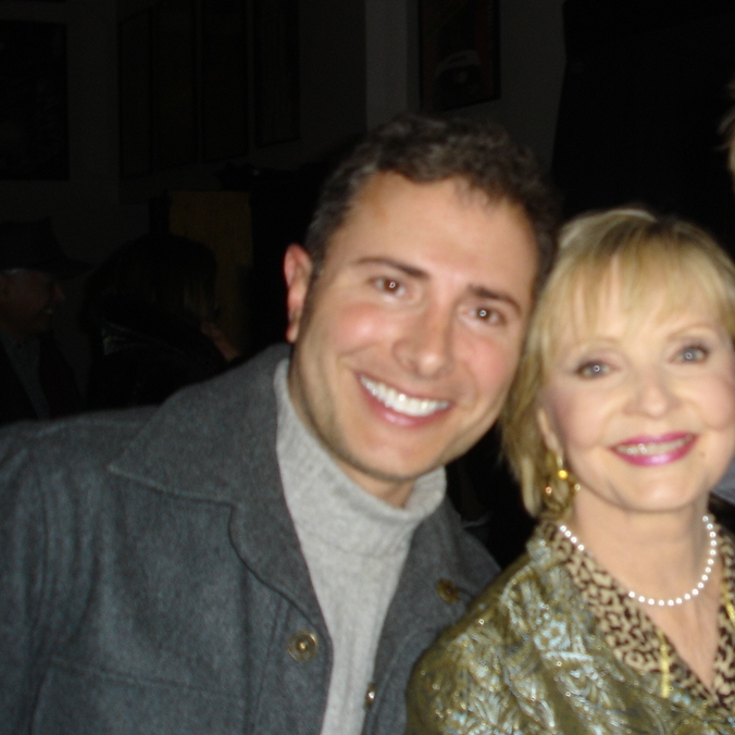 With Florence Henderson
