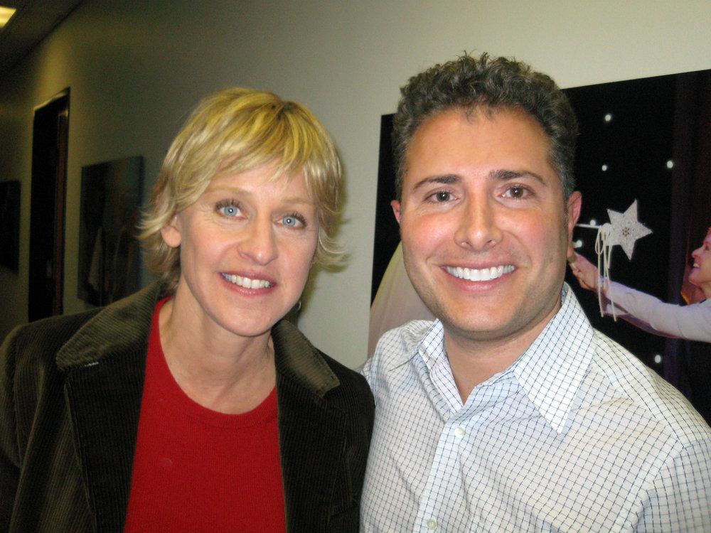 With Ellen Degeneres