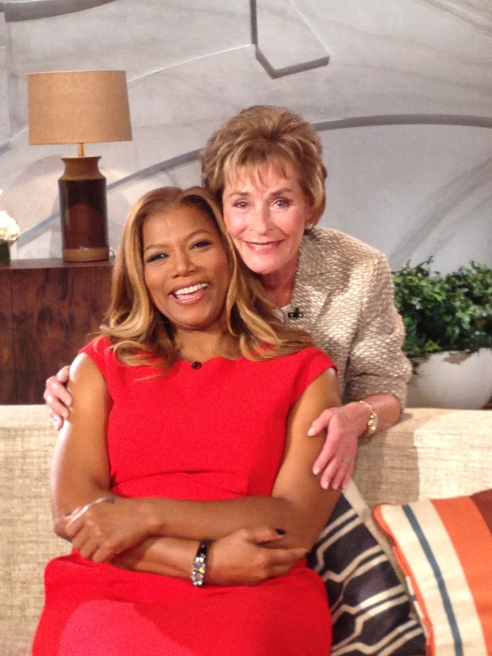 Judge Judy with Queen Latifah