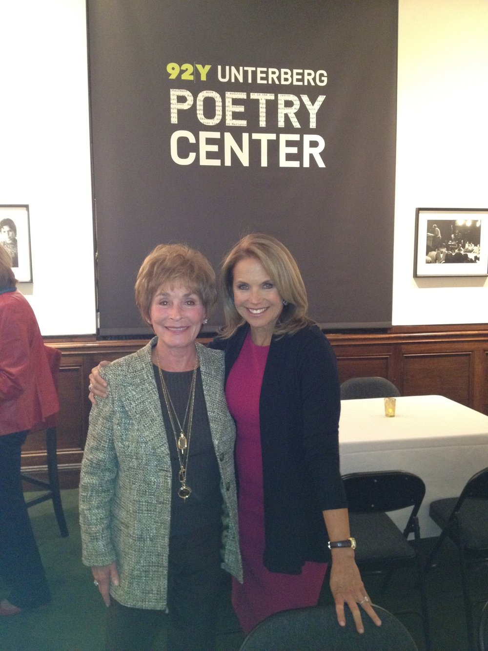 Judge Judy with Katie Couric at the 92nd St Y