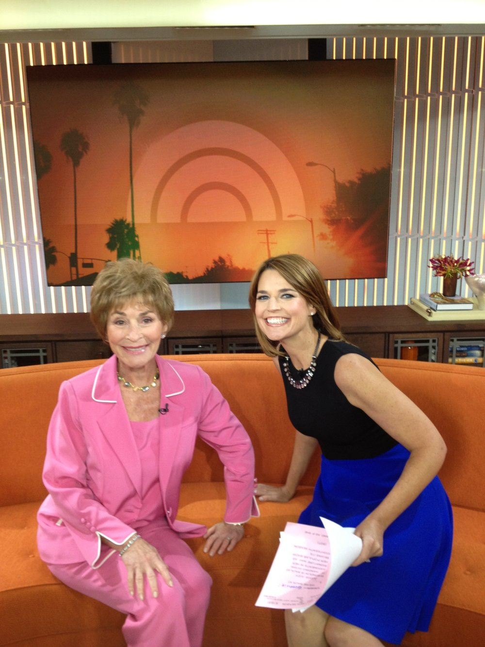 Judge Judy with savannah Guthrie