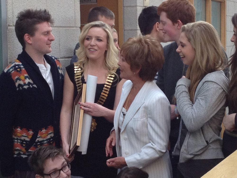Judge Judy with Students in Dublin