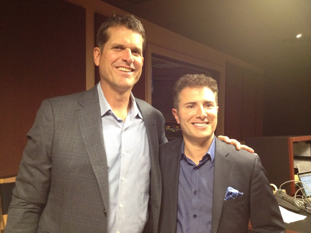 With Coach Jim Harbaugh