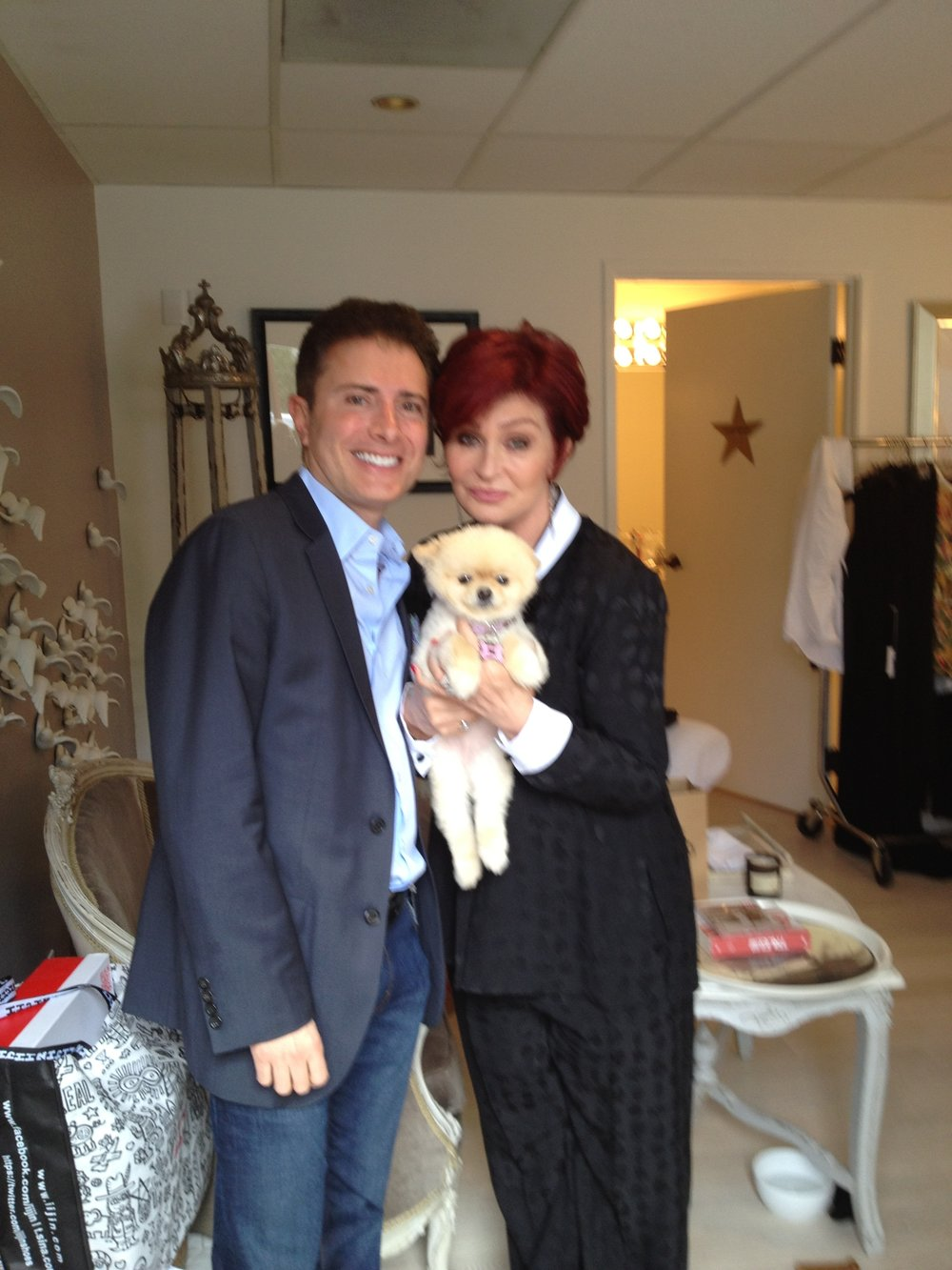 With Sharon Osbourne