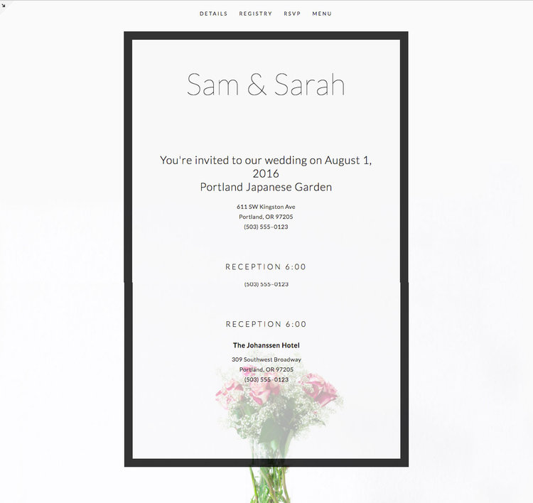 Bespoke online wedding invitations invironment online invitations sam sarah wanted to distribute their event invitation into three categories introductory paragraph stopboris Gallery