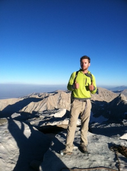After soloing the East Face on Mt. Whitney