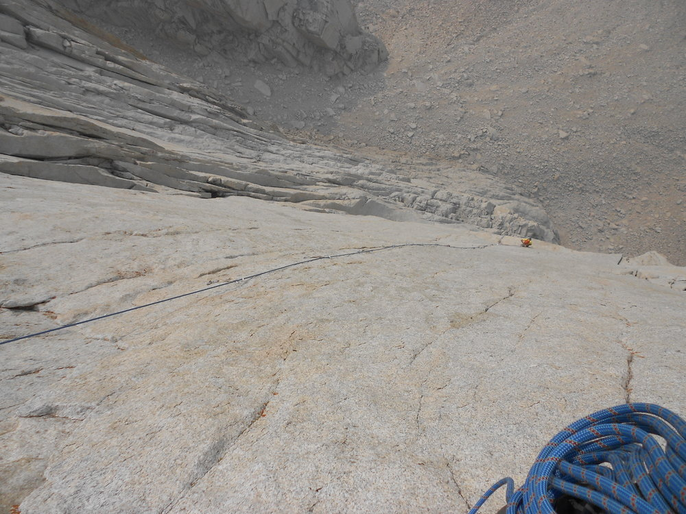Looking down pitch 8,140ft, 12a