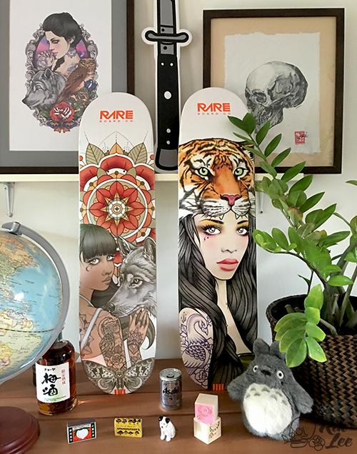 Rik Lee X Rare Skateboards - Akela & Tigress